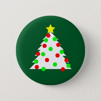 Paper Cutout Christmas Tree 2 Inch Round Button