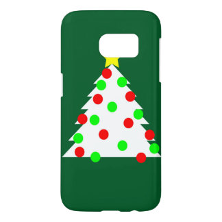 Paper Cutout Christmas Tree Samsung Galaxy S7 Case