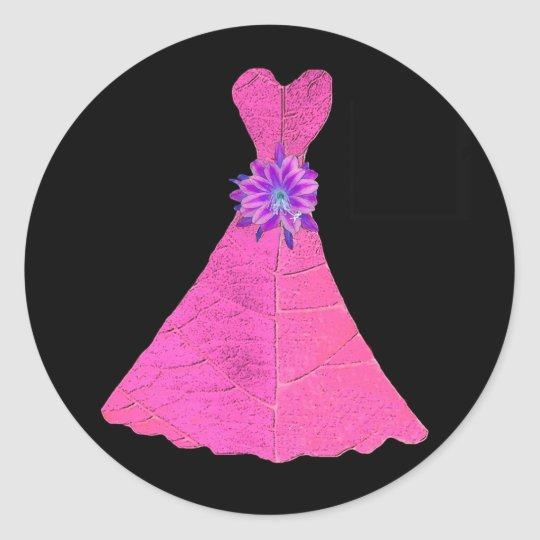 Paper Doll Bridesmaid Dresses Classic Round Sticker