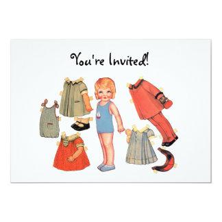 Paper Doll Invitations