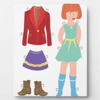 Paper Doll Plaque