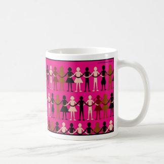 """Paper Dolls"" children of the world diversity Classic White Coffee Mug"