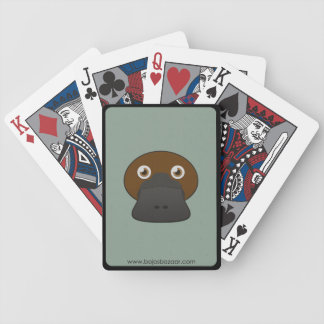 Paper Duck-Billed Platypus Bicycle Playing Cards