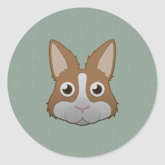 Paper Dutch Bunny Round Sticker