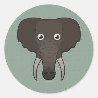 Paper Elephant Classic Round Sticker