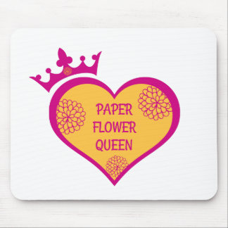 Paper Flower Molding Mat - Orange and Magenta Mouse Pad