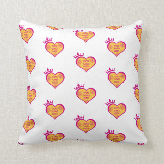 Paper Flower Queen - accent pillow