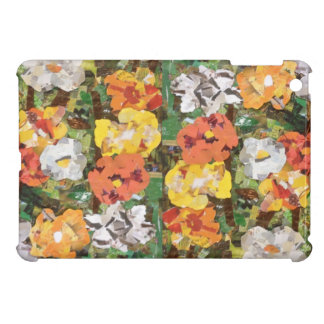 Paper Flowers Collage in yellow& orange Cover For The iPad Mini