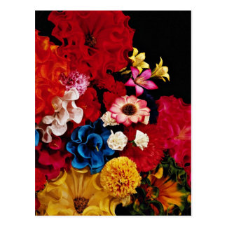 Paper flowers from Mexico  flowers Postcard