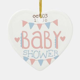 Paper Garlands Baby Shower Invitation Design Templ Ceramic Ornament