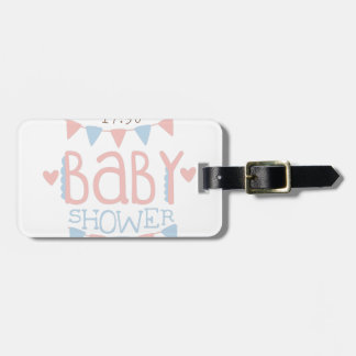 Paper Garlands Baby Shower Invitation Design Templ Luggage Tag