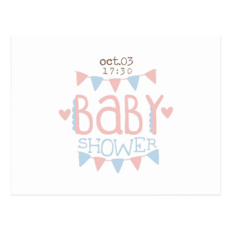 Paper Garlands Baby Shower Invitation Design Templ Postcard