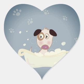 Paper heart - shaped dog heart sticker
