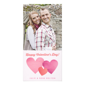 Paper Hearts Valentine's Day Photo Card