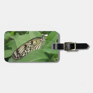 Paper Kite Butterfly Macro Custom Luggage Tag