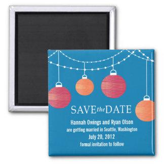 Paper Lantern Wedding Save the Date Magnet