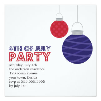 Paper Lanterns 4th of July Party Invitations