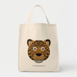 Paper Leopard Grocery Tote Bag