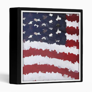 Paper Mache American Flag 3 Ring Binder