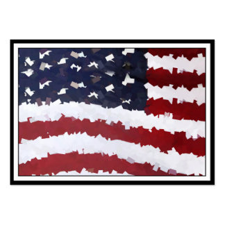 Paper Mache American Flag Business Card Template