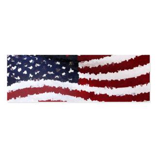 Paper Mache American Flag Business Card Template
