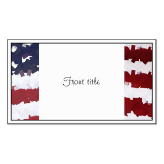 Paper Mache American Flag Business Card Templates