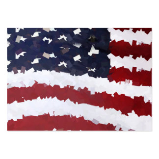 Paper Mache American Flag Business Cards