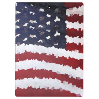 Paper Mache American Flag Clipboards