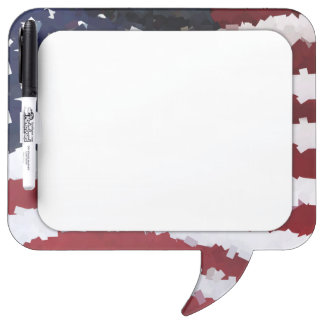 Paper Mache American Flag Dry-Erase Boards