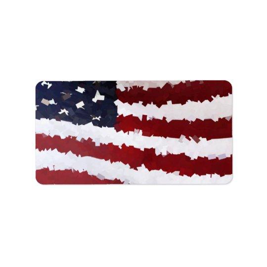 Paper Mache American Flag Label