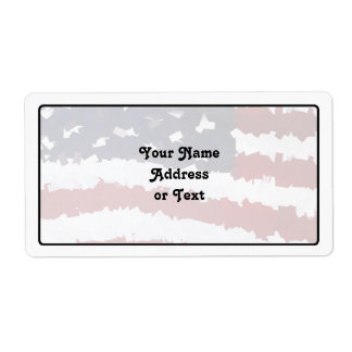 Paper Mache American Flag Custom Shipping Label