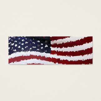 Paper Mache American Flag Mini Business Card