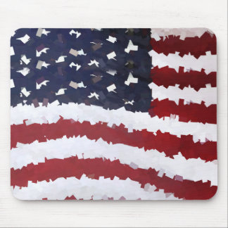 Paper Mache American Flag Mousepads