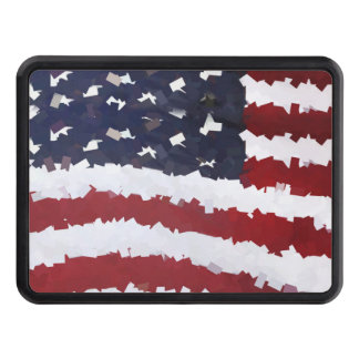 Paper Mache American Flag Hitch Covers