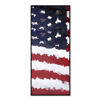 Paper Mache American Flag Personalized Rack Card