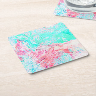 Paper marble texture coaster