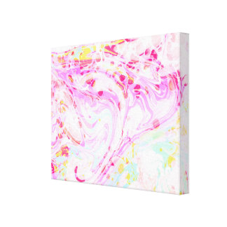 Paper Marble Wrapped Canvas
