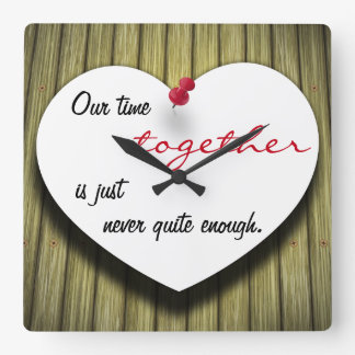 Paper Message Note Heart - Wall Clock