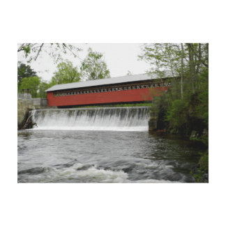 Paper Mill Covered Bridge, Vermont Canvas Print