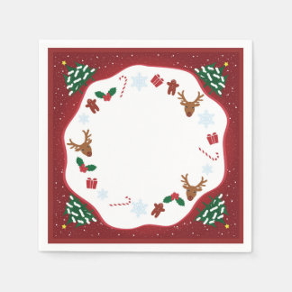 Paper napkin for Christmas