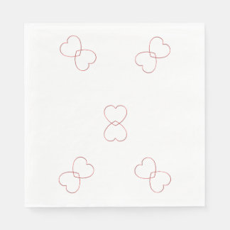 Paper Napkin - Wire Hearts Intwined