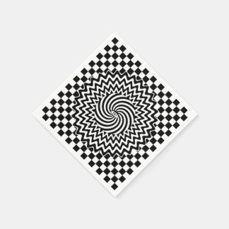 Paper Napkin with hypnotic eye