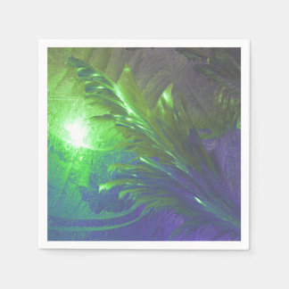 paper napkins abstract green purple