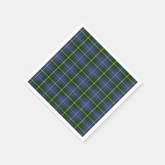 paper napkins  blue Nova Scotia Tartan plaid