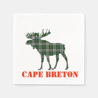 paper napkins  Cape Breton Tartan plaid moose