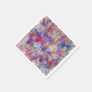 Paper Napkins Colorful abstract Leaves