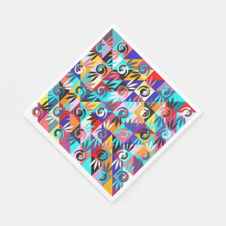 Paper Napkins  Colorful Abstract Pattern