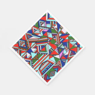 Paper Napkins Colorful Pattern