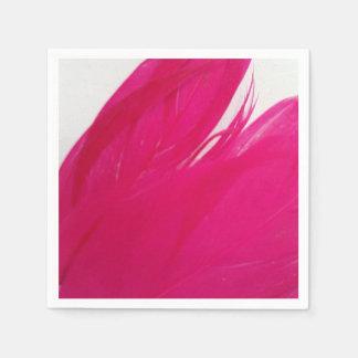 Paper Napkins- Feathery Fuschia Paper Napkins
