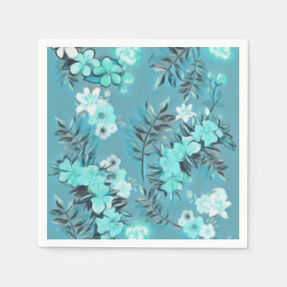 Paper Napkins Floral Abstract Design